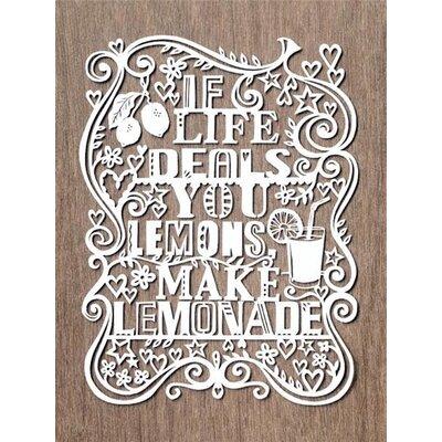 Art Group If Life Deals You Lemons, Make Lemonade by Julene Harrison Typography Canvas Wall Art
