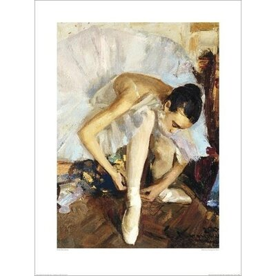 Art Group Ballerina Fixing Her Shoe by Vasily Bratanyuk Art Print