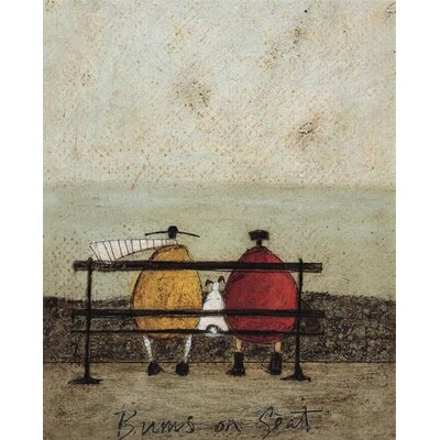 Art Group Bums on Seat by Sam Toft Canvas Wall Art