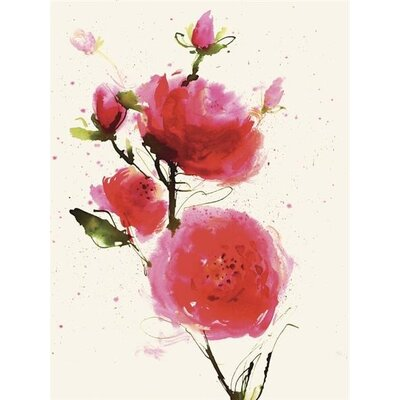 Art Group Wild Ruby by Summer Thornton Canvas Wall Art