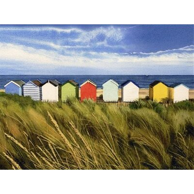 Art Group Beach Huts, Southwold by Margaret Heath Art Print on Canvas