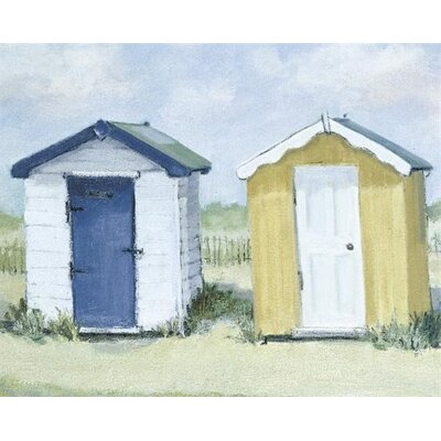Art Group Two Beach Huts by Jane Hewlett Canvas Wall Art