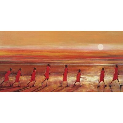 Art Group Samburu Sunset by Jonathan Sanders Art Print on Canvas
