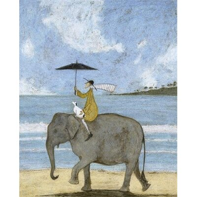 Art Group On The Edge of the Sand by Sam Toft Canvas Wall Art