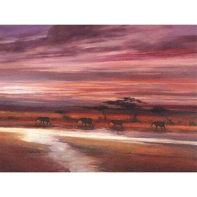 Art Group Four Elephants by Jonathan Sanders Canvas Wall Art