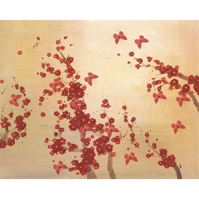 Art Group Butterflies and Blossoms by Lily Greenwood Art Print on Canvas