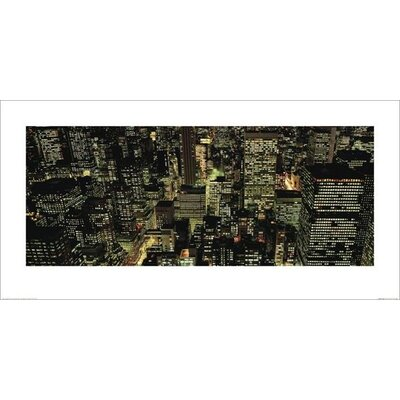 Art Group Manhattan Night by Richard Berenholtz Photographic Print