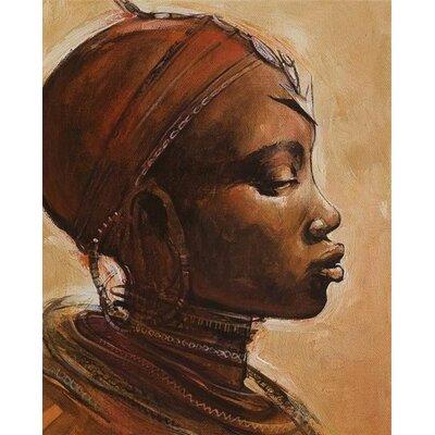 Art Group Masai Woman I by Jonathan Sanders Canvas Wall Art