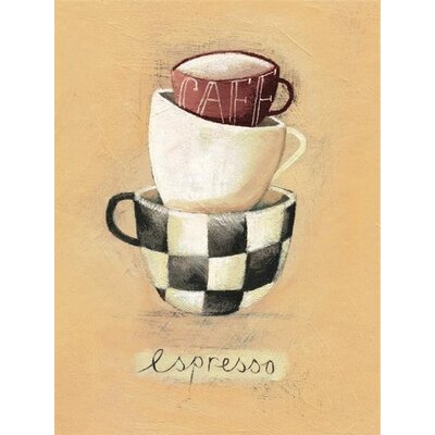 Art Group Cafe Espresso by Nicola Evans Canvas Wall Art