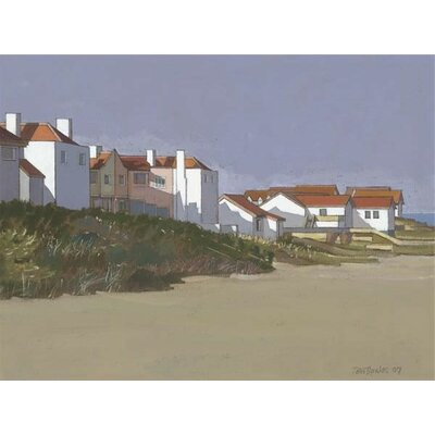 Art Group Beach Houses, Thorpness by John Sprakes Art Print on Canvas