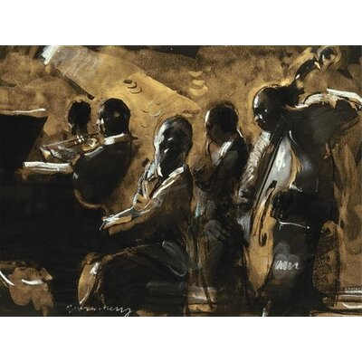 Art Group Blues On Gold by Charlie Mackesy Canvas Wall Art