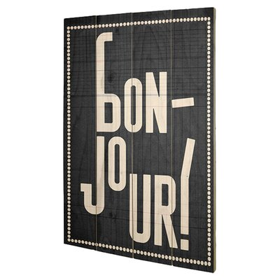 Art Group Bonjour by Edu Barba Typography Plaque