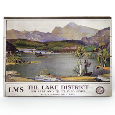 Art Group The Lake District Vintage Advertisement Plaque