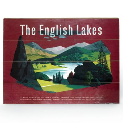Art Group The English Lakes Vintage Advertisement Plaque