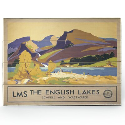 Art Group The English Lakes Vintage Advertisement Plaque