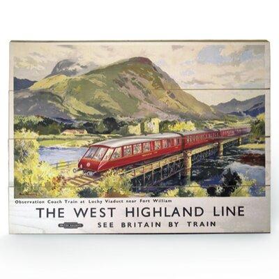 Art Group The West Highland Line Vintage Advertisement Plaque