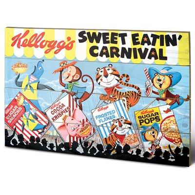 Art Group Vintage Kelloggs - Sweet Eatin Carnival Land Vintage Advertisement Plaque