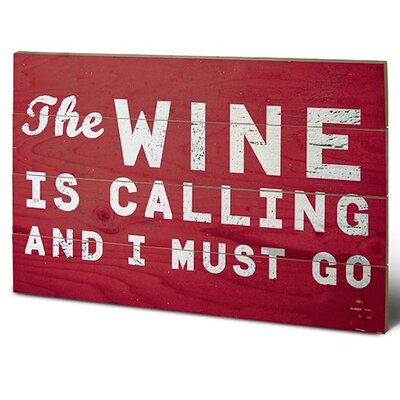 Art Group Go Jump In The Lake, Wine Typography Plaque