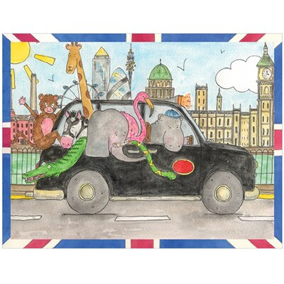 Art Group London Taxi by Milly Green Art Print