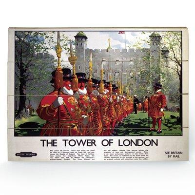 """Art Group London """"2"""" Vintage Advertisement Plaque"""