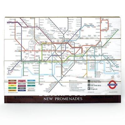 Art Group London Underground Map Graphic Art Plaque