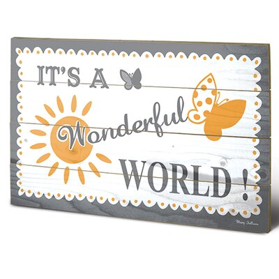 Art Group It's a Wonderful World by Mary Fellows Graphic Art Plaque