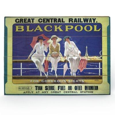 Art Group Blackpool Vintage Advertisement Plaque