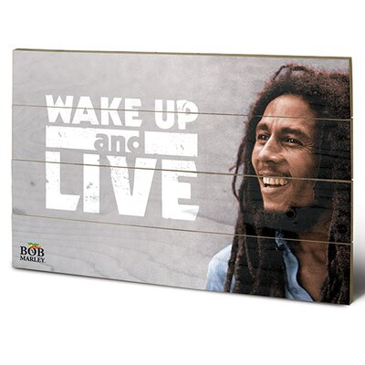 Art Group Bob Marley, Wake Up and Live Vintage Advertisement Plaque