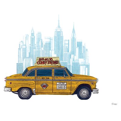 Art Group Taxi New York by Barry Goodman Graphic Art