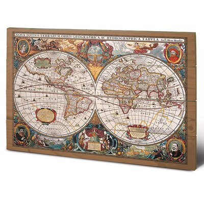 Art Group 17th Century World Map Graphic Art Plaque