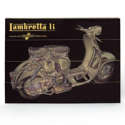 "Art Group Lambretta ""LI Cutaway"" Vintage Advertisement Plaque"