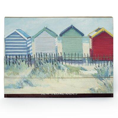 Art Group Suffolk Beach Huts by Jane Hewlett Art Print Plaque