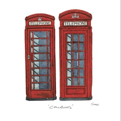 Art Group Telephone Boxes by Barry Goodman Graphic Art