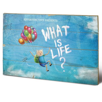 Art Group Adventure Time, What is Life Vintage Advertisement Plaque