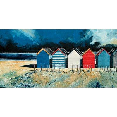 Art Group Beach Huts And Beach II by Stuart Roy Canvas Wall Art