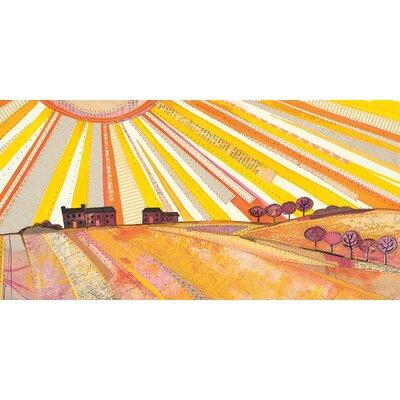 Art Group Sunburst by Helen Hallows Canvas Wall Art