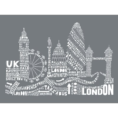 Art Group Citography - London Typography Canvas Wall Art