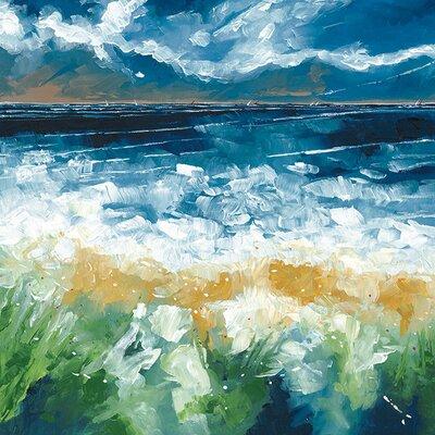 Art Group Sea And Blue Sky IV by Stuart Roy Canvas Wall Art