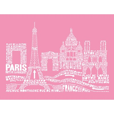 Art Group Citography - Paris Typography Canvas Wall Art