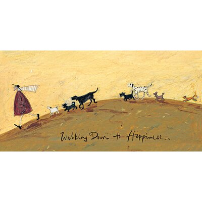 Art Group Walking Down To Happiness by Sam Toft Canvas Wall Art