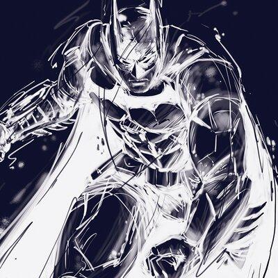 Art Group Batman Arkham Knight Stance Canvas Wall Art