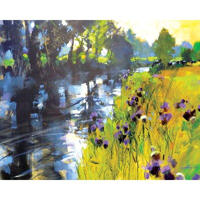 Art Group Sun And Meadow Thistles by Chris Forsey Canvas Wall Art