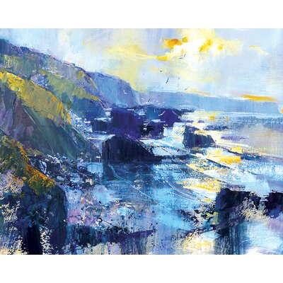 Art Group Tregardock Beach, December by Chris Forsey Canvas Wall Art