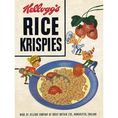 Art Group Kellogg's Rice Krispies - Strawberries Vintage Advertisement Canvas Wall Art