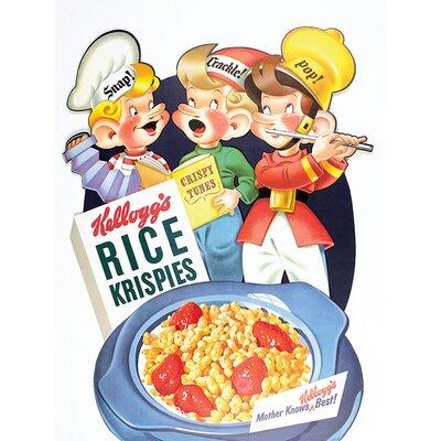 Art Group Kellogg's Rice Krispies - Tune Vintage Advertisement Canvas Wall Art