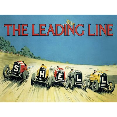 Art Group Shell The Leading Line, 1923 Vintage Advertisement Canvas Wall Art