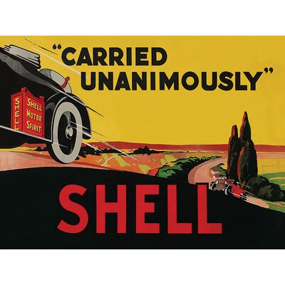 Art Group Shell Carried Unanimously, 1923 Vintage Advertisement Canvas Wall Art