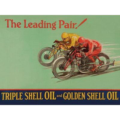 Art Group Shell Leading Pair, 1928 Vintage Advertisement Canvas Wall Art