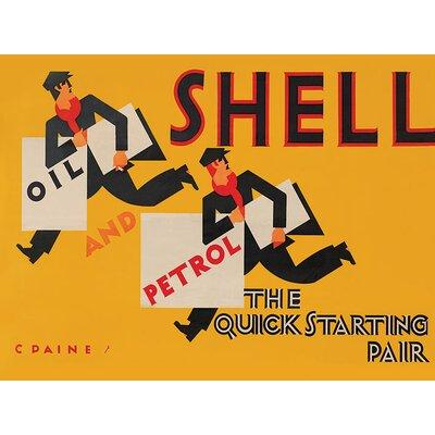 Art Group Shell Newsboys, 1928 Vintage Advertisement Canvas Wall Art