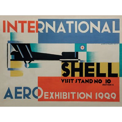 Art Group Shell International Aero Exhibition, 1929 Vintage Advertisement Canvas Wall Art